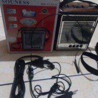 Radio Am Fm Sw Mp3 Player + Senter Souness Sni 513u K / Sni512u-k