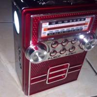 Radio Am Fm Sw USB + Senter di Cas Ulang Fleco F 686t Rodja Cocok