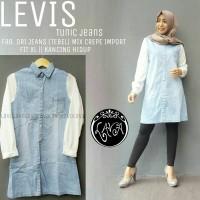 levis tunic jeans ori / baju jeans wanita