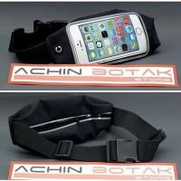 harga running belt, spibelt, tas pinggang transparan muat hp 5,5 inc hitam Tokopedia.com