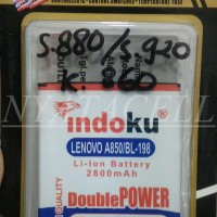 Baterai Indoku Lenovo BL198 BL-198 S880 S920 K860 Batre/Double Power