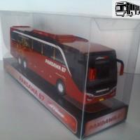 BUS PANDAWA 87 (JetBus), Miniatur Bus Mainan, Paper Bus, PaperBus, RED