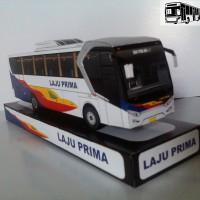 BUS LAJU PRIMA, Miniatur Bus Mainan, Paper Bus, PaperBus