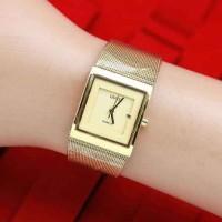 Grosir Jam Tangan Wanita / Cewek Guess Segi Full Gold