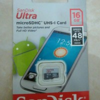harga MicroSD Sandisk ULTRA 16GB Class 10 Speed 48MB/S Tokopedia.com