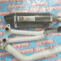 Knalpot Racing Akrapovik Karbon Keflar For Ninja 250 Cc.