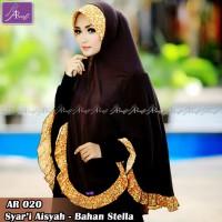 Hijab Instan Khimar Syar'i Aisyah Syar'i Arrafi Bahan Stella
