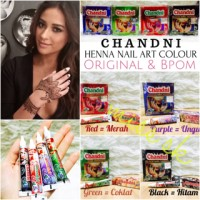 [ Box Besar isi 12 pc ] CHANDNI HENNA Nail Art Colour BPOM (pacar kuku
