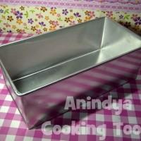Loyang brownies/kue bronis aluminium ukuran 20x10x7cm
