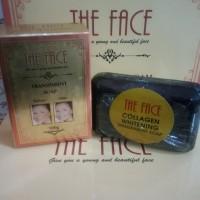 The Face Collagen Whitening Transparent Soap / Sabun Batang Murah