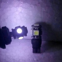 Bohlam / Lampu Senja T10 LED 5 Led PUTIH STROBO