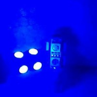 Bohlam / Lampu Senja T10 LED 9 Led BIRU STROBO