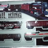 Mainan Kereta Api Lokomotif Dengan Rel Kereta