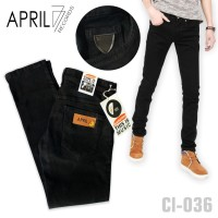CELANA JEANS SLIM FIT APRIL 77 HITAM PEKAT / BLACK