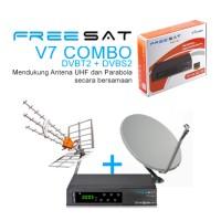 Set Top Box DVB T2 DVB S2 FREESAT V7 Combo + Kabel HDMI