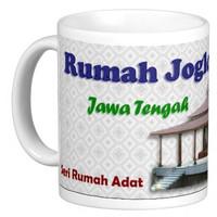 Mug Keramik seni budaya Indonesia, Rumah Joglo - Jawa (3P311401)