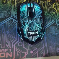 USB Optical Gaming Mouse Morrologic X-Craft TRON 5000 Power Logic