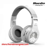 Bluedio H Plus Headset Bluetooth With Micro SD and FM Radio White