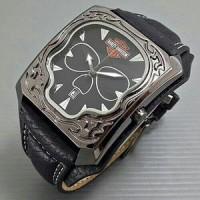 Jam Tangan Pria Harley Davidson Tengkorak Leather