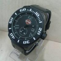 Jam Tangan Harley Davidson Date Detik Krono Semi Super Black