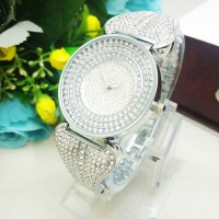 Jam Tangan Wanita Chopard Pita Diamond Silver
