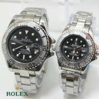 ROLEX COUPLE R028 SILVER BLACK