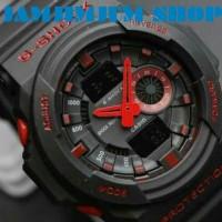 JAM TANGAN G SHOCK GA 150 GA150 BLACK LIST RED MURAH
