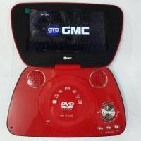 """GMC DIVX-808U-TV 9"""" Portable DVD Player - Merah"""