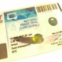 natural fire opal atau prase opal 3,29 cts