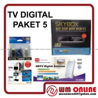 DIGITAL TV DVB-T2 SKYBOX Set Top Box + PX DA-3520A + HDMI CABLE HD-1.5