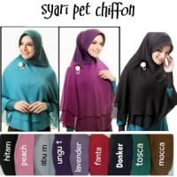 Kerudung Syar'i, Hijab Syar'i, Hijab Jilbab Khimar Syar'i Pet Chiffon