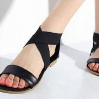 Sandal Flat Hitam N21