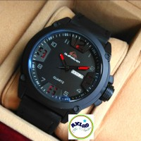 Jam Tangan Pria Quiksilver Q06 New Leather Black List Red