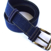 Osberg Navy Denim Ring Belt Sabuk Kulit Genuine Leather Belt