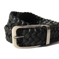 Belt Osberg Nappa Webbing Black Sabuk Kulit Genuine Leather Belt