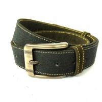 Osberg Black Denim Belt Sabuk Kulit Genuine Leather Belt