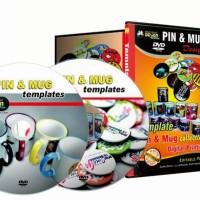 Paket DVD Design Kumpulan Koleksi Desain / Template Pin & Mug