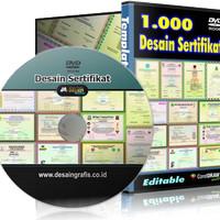 Paket DVD Design Kumpulan Koleksi Desain Sertifikat / Piagam