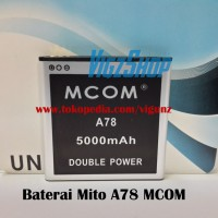 Battery Batre Baterai Batrei Mito A78 Double Power 3800mAh Merk MCOM