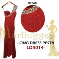 Gaun Pesta Gucci Manik Merah  / Elegant / Sexy / One Shoulder