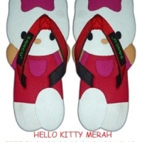 SANCU (SANDAL LUCU) HELLO KITTY MERAH Size 34,32, 30 L Sancu Anak