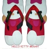 SANCU (SANDAL LUCU) HELLO KITTY MERAH Size 28,24, 21 L Sancu Balita