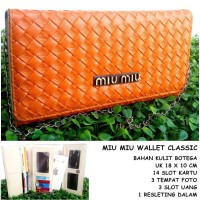 Dompet Wanita Kulit Botega Miu Miu Wallet Clasic Orange