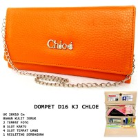Dompet Wanita Kulit D16 Kj Chloe Orange
