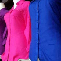 Kemeja Basic Katun Rayon; Kemeja Rayon Polos; Rayon Shirt
