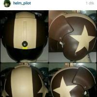 harga Helm Pilot Coklat Tua Coklat Muda Bintang Tokopedia.com