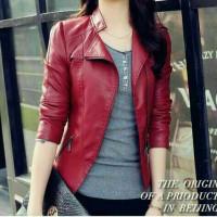 Jual jaket wanita blazer kulit sintetis Murah