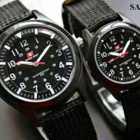 COUPLE SWISS ARMY / COUPLE SWISS ARMY KANVAS / JAM COUPLE MURAH