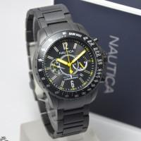 Jam Tangan Fashion Nautica Pria A26537G Rantai Chrono Full Black Ori