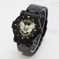 Jam Tangan Pria / Cowo Harley Davidson H351 Hitam